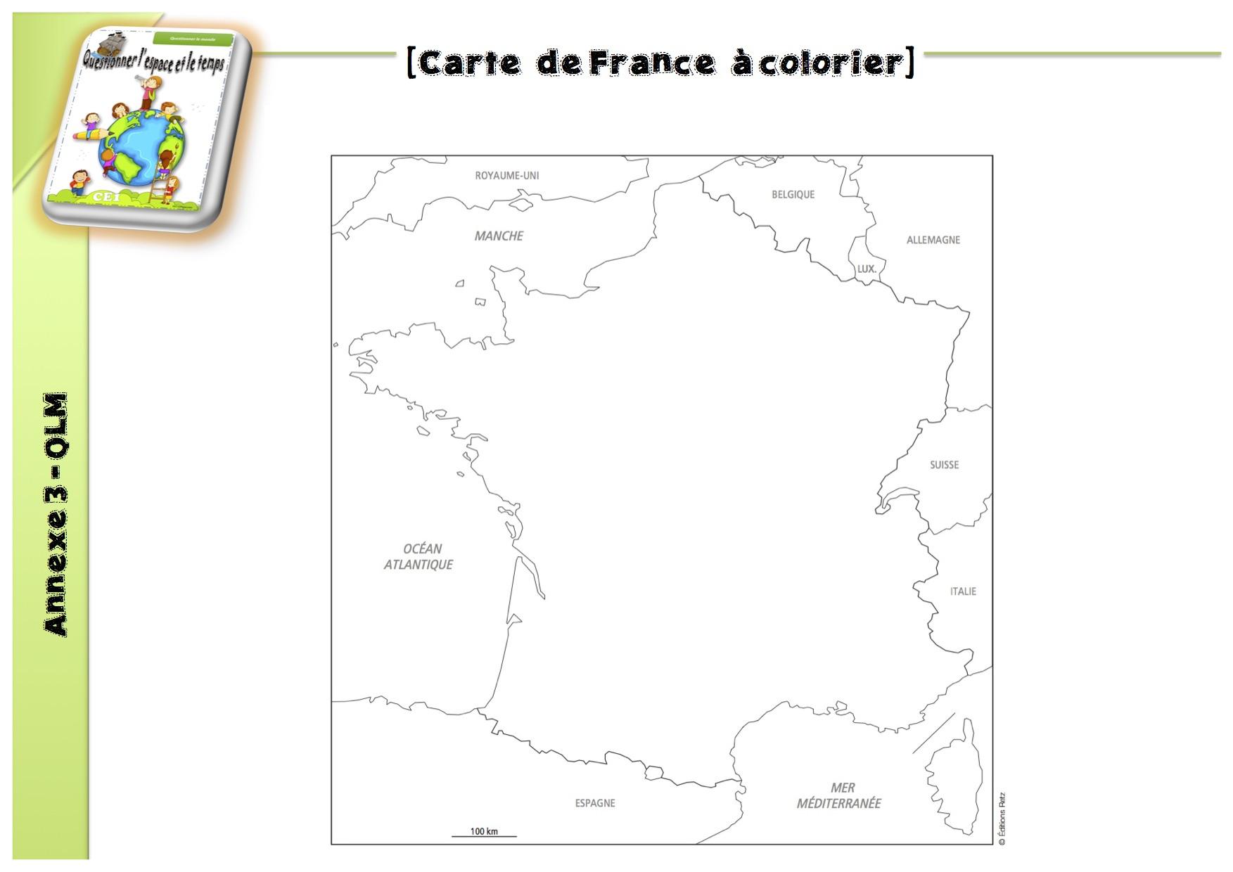 50 Expériences Qlm : L'espace - La Classe De Luccia ! dedans Carte De France Ce1