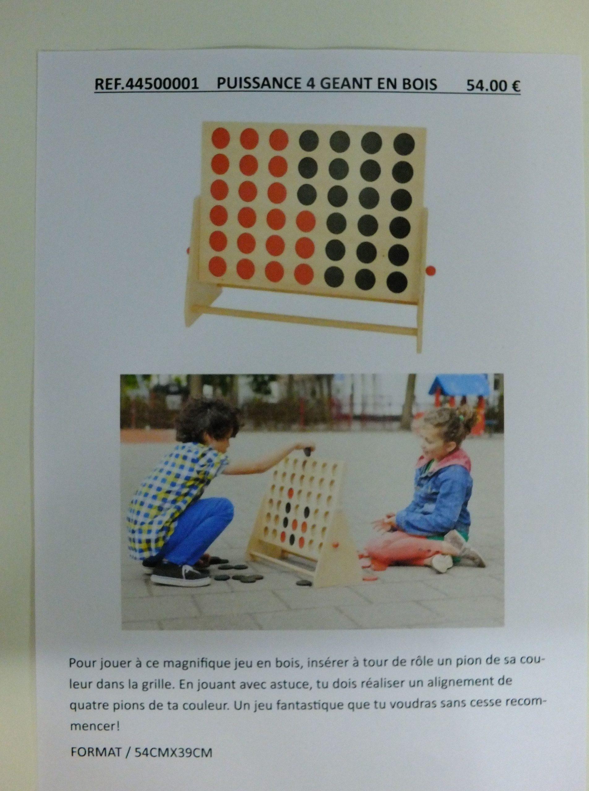 54.00 € / Puissance 4 Géant En Bois - Librairie Debray Sprl à Jouer A Puissance 4