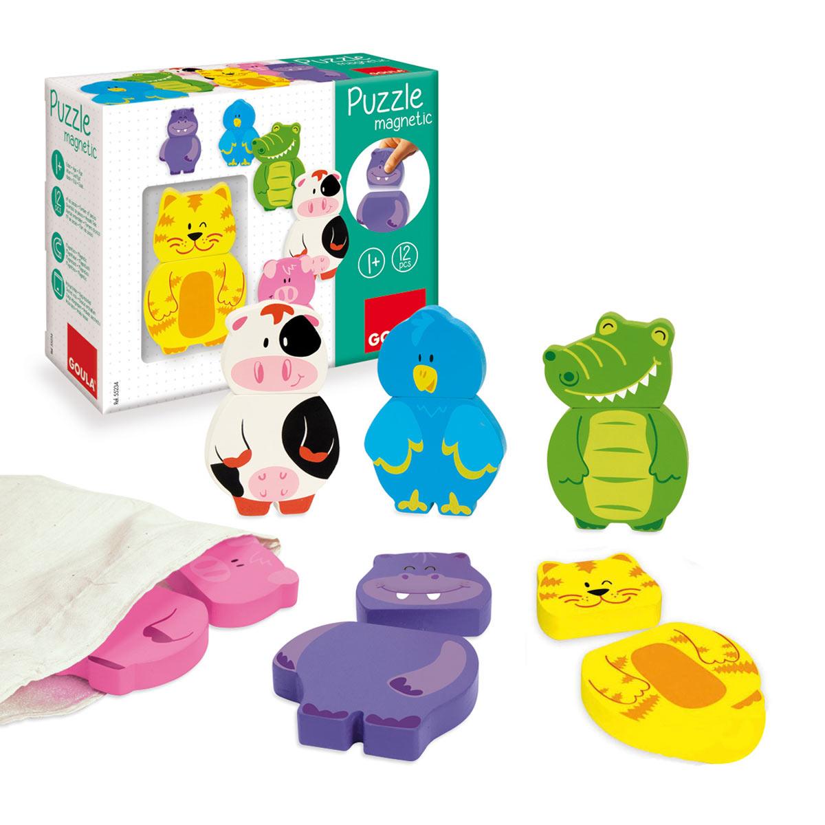 6 Animaux Magnétiques à Jeux Animaux Enfant