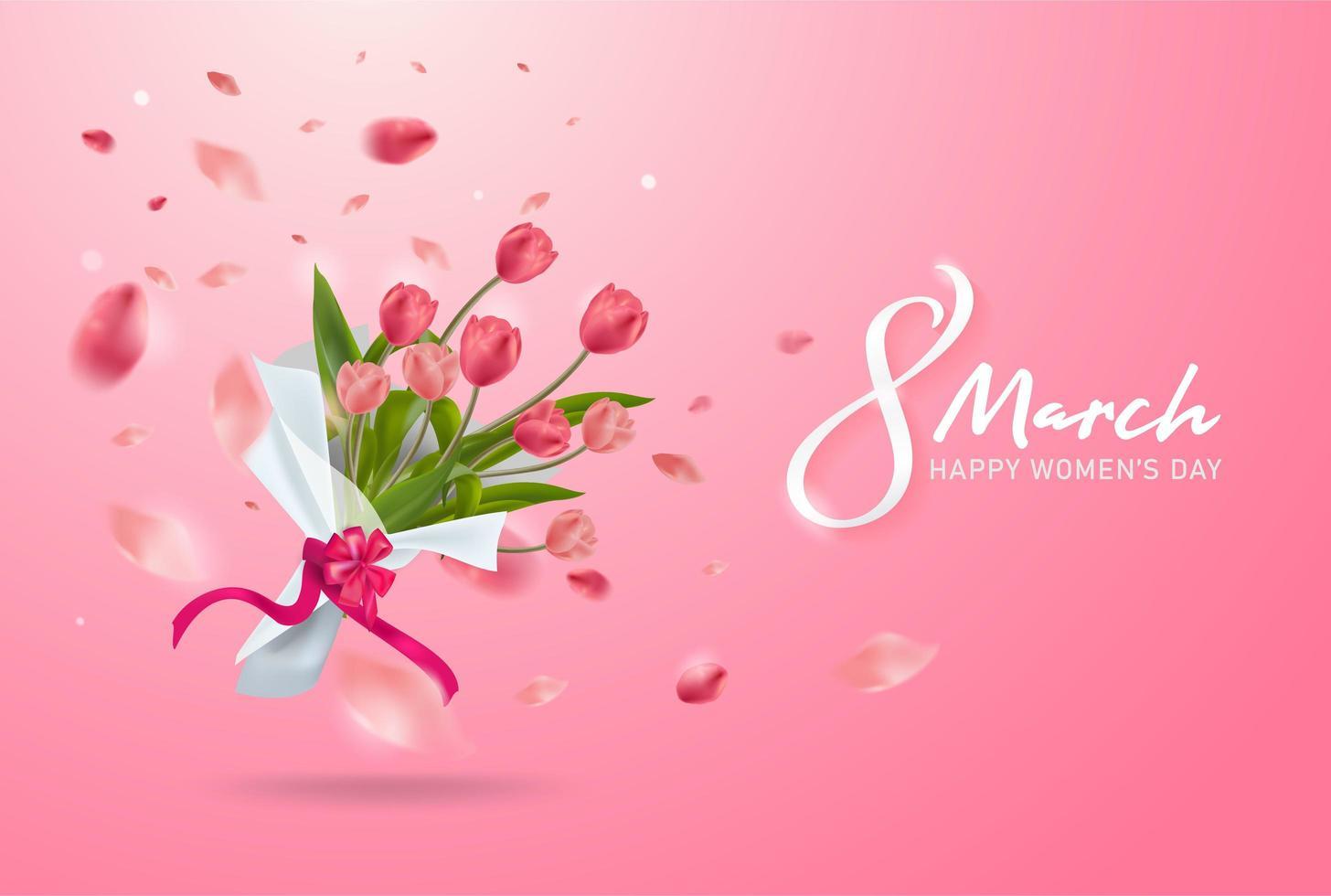 8 Mars Carte De Voeux. Journée Internationale De La Femme à Carte De Voeux À Télécharger