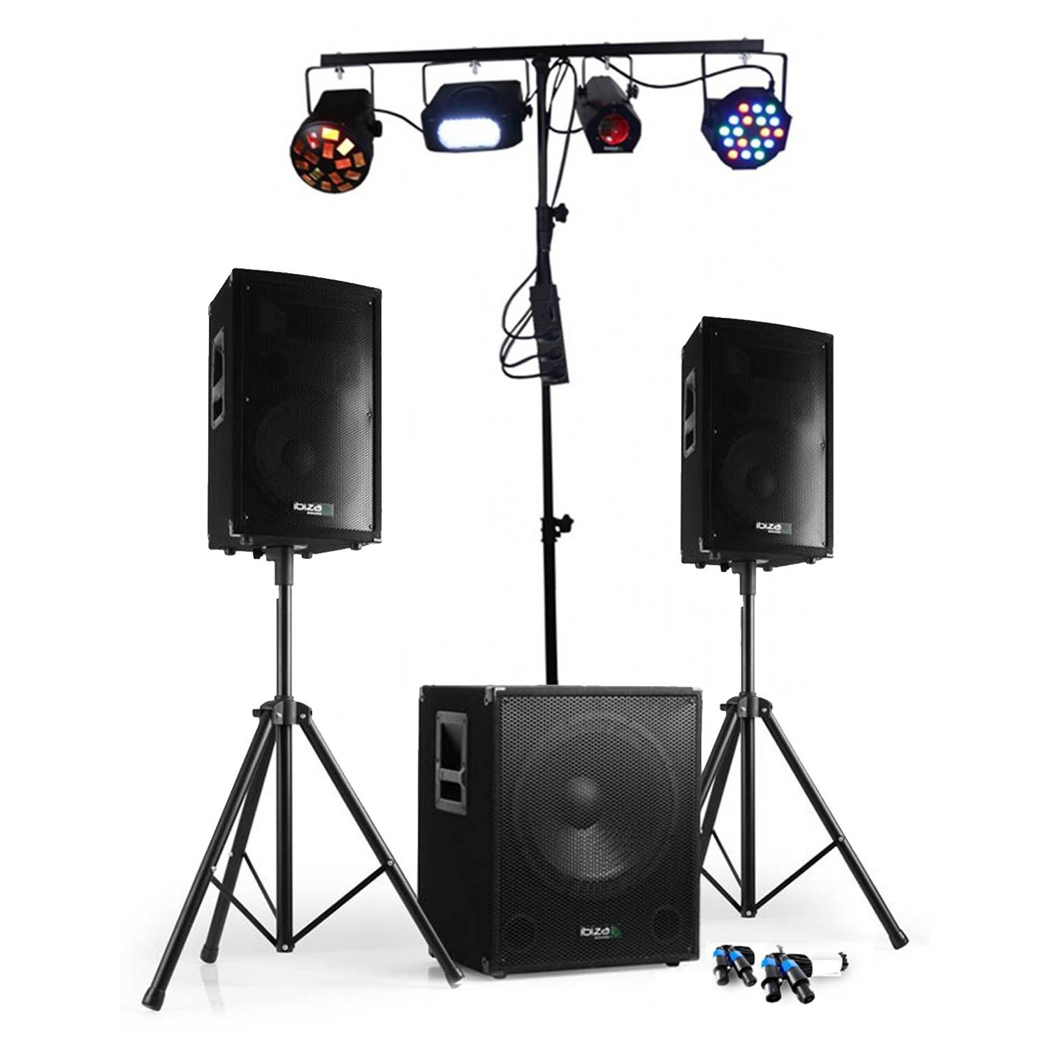 800W Subwoofer + 2 Satellites + Feet + 4 Sets Of Light With Swing pour Jeux Flash A 2
