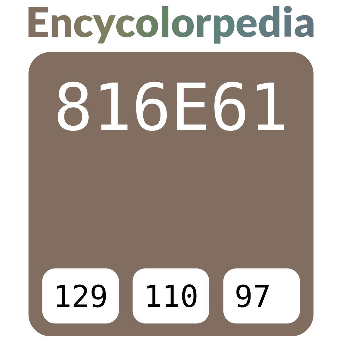 816E61 Schémas De Couleurs Hexadécimal Et Peintures concernant Code Couleur Taupe