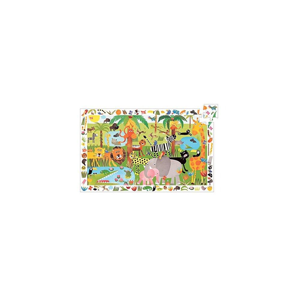 82889 Puzzle Observation Jungle Djeco 35 Pièces Puzzles à Puzzle Fille 3 Ans