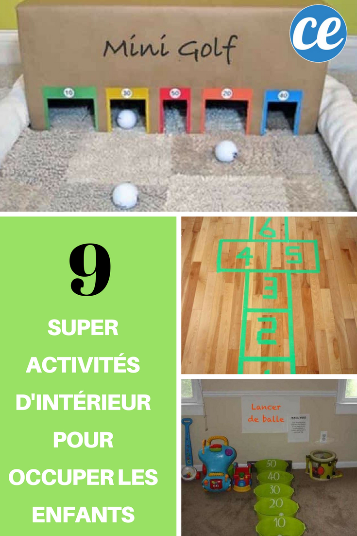 9 Super Activités D'intérieur Pour Occuper Les Enfants encequiconcerne Activité Pour Enfant De 5 Ans