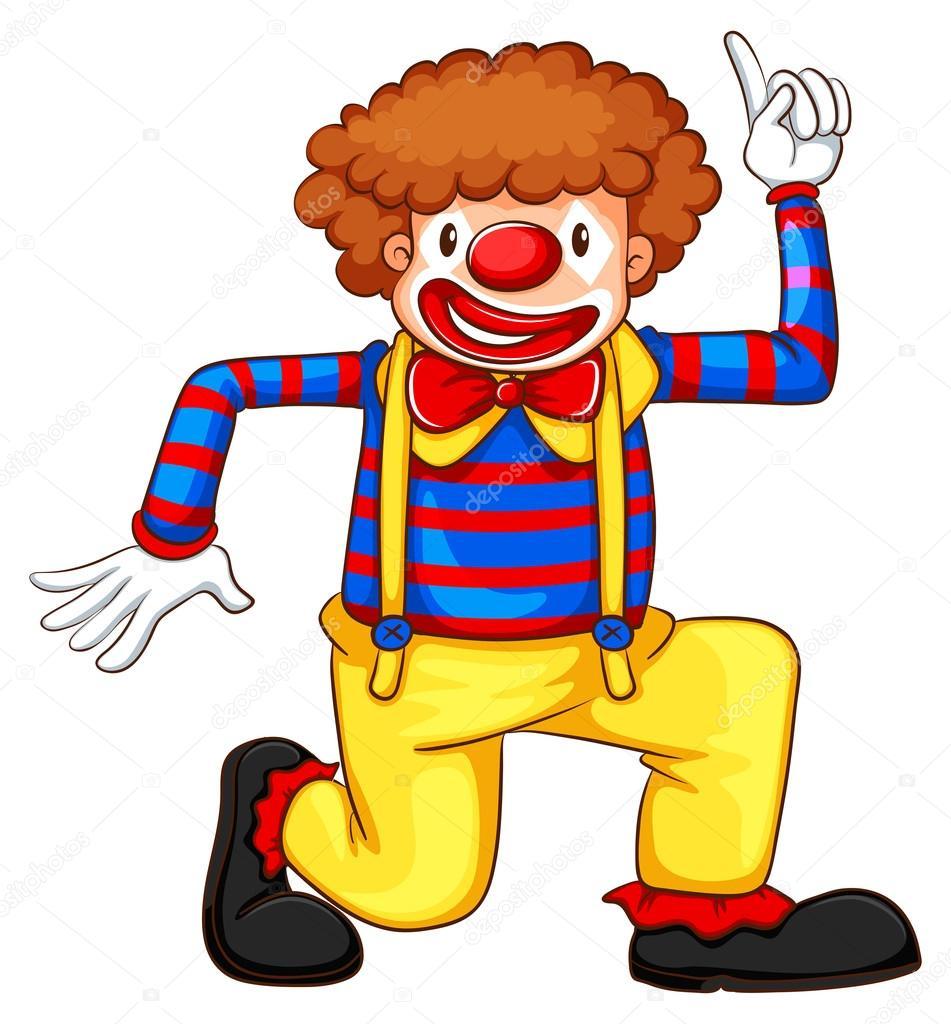 A Coloured Drawing Of A Clown — Stock Vector © Blueringmedia pour Dessin De Clown En Couleur