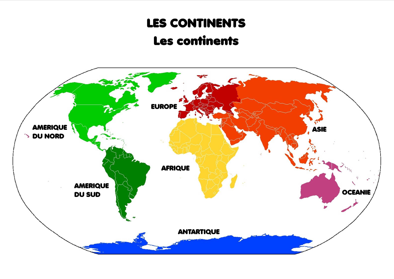 A La Découverte Du Monde [Activités Du Mercredi À Imprimer] encequiconcerne Carte Du Monde Avec Continent