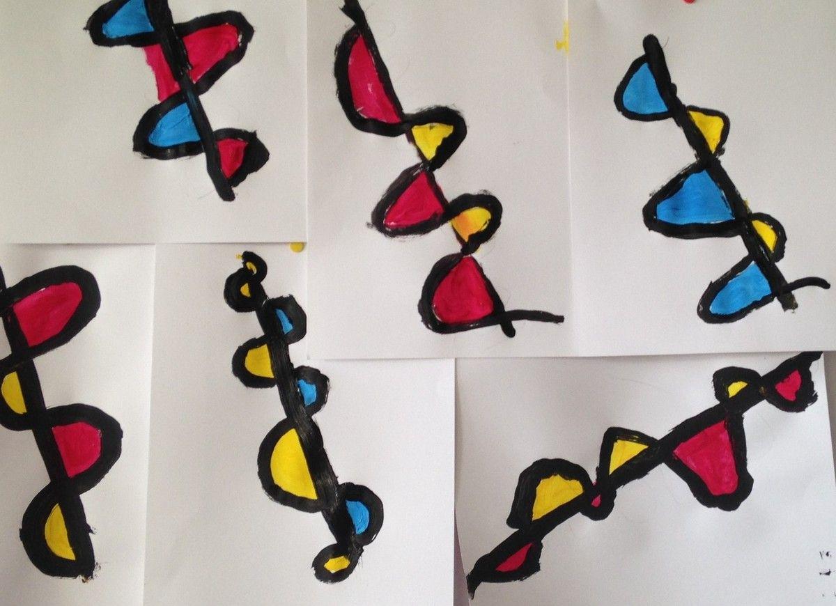 A La Manière D'alexander Calder (Graphisme : Les Vagues) Gs pour Graphisme Les Vagues Moyenne Section