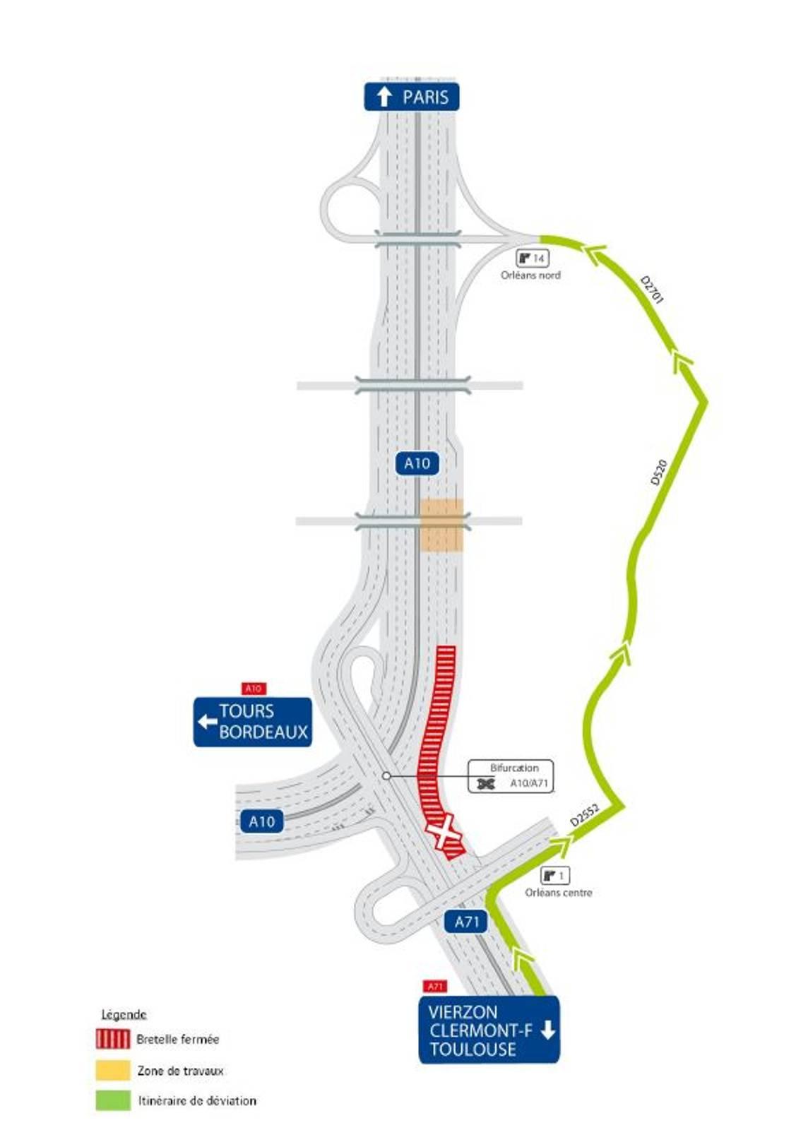 A10 : La Bretelle Vierzon - Paris Au Nord D'orléans Fermée avec A10 Jeux Gratuit