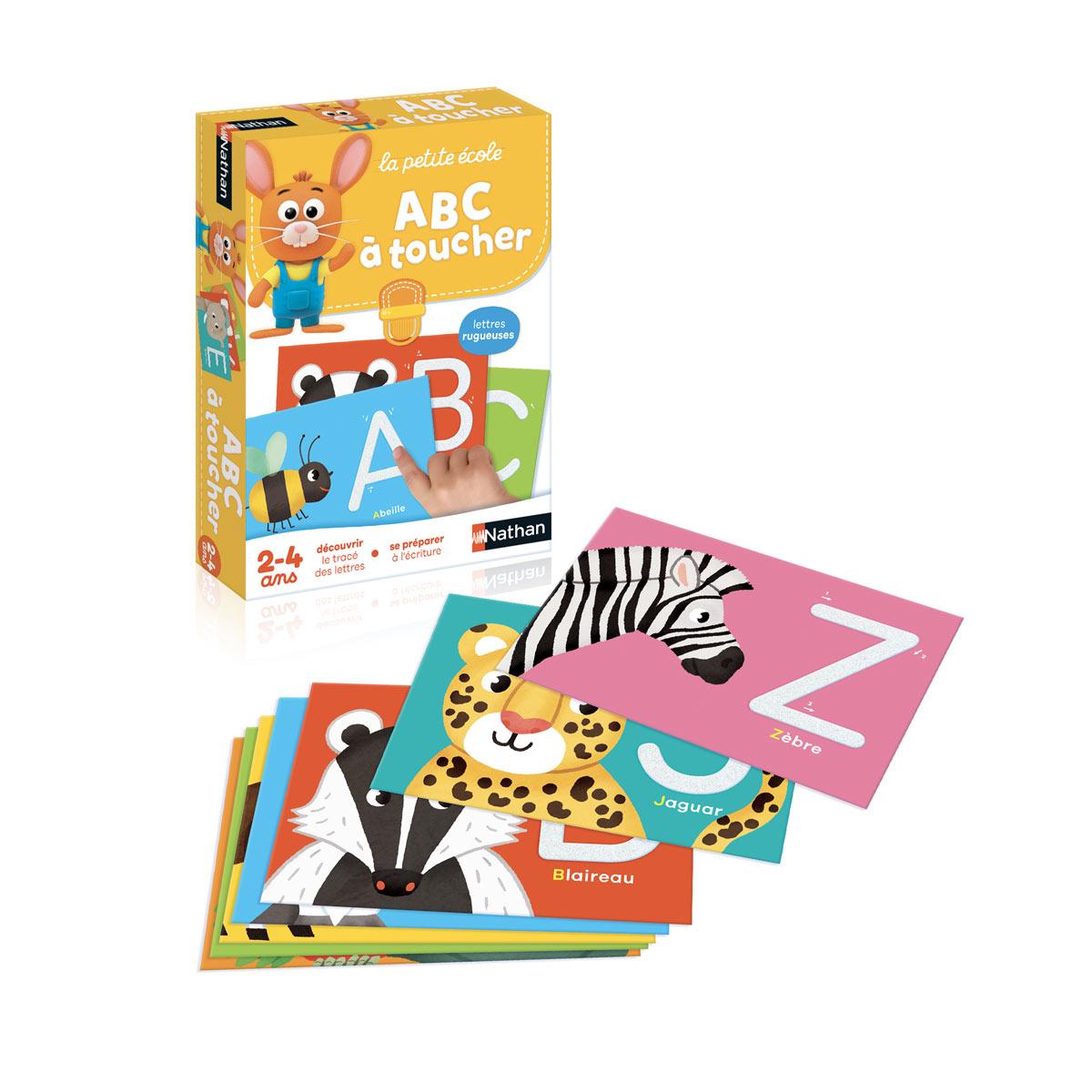 Abc À Toucher La Petite École concernant Apprendre Les Lettres En Jouant