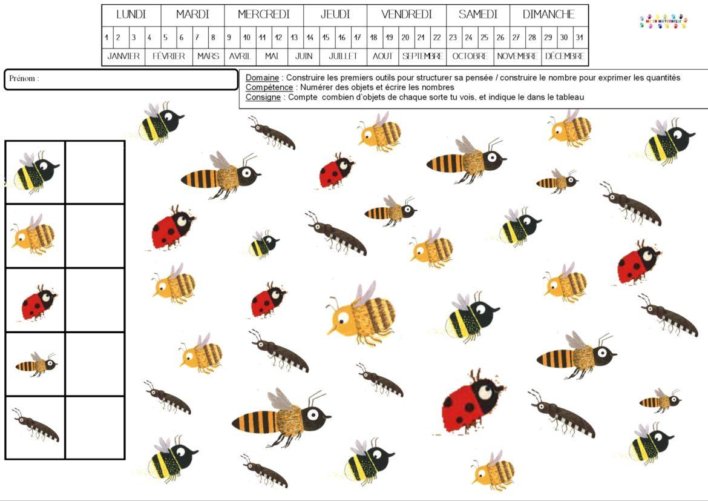 Abeilles À Miel – Mc En Maternelle intérieur Imagier Insectes