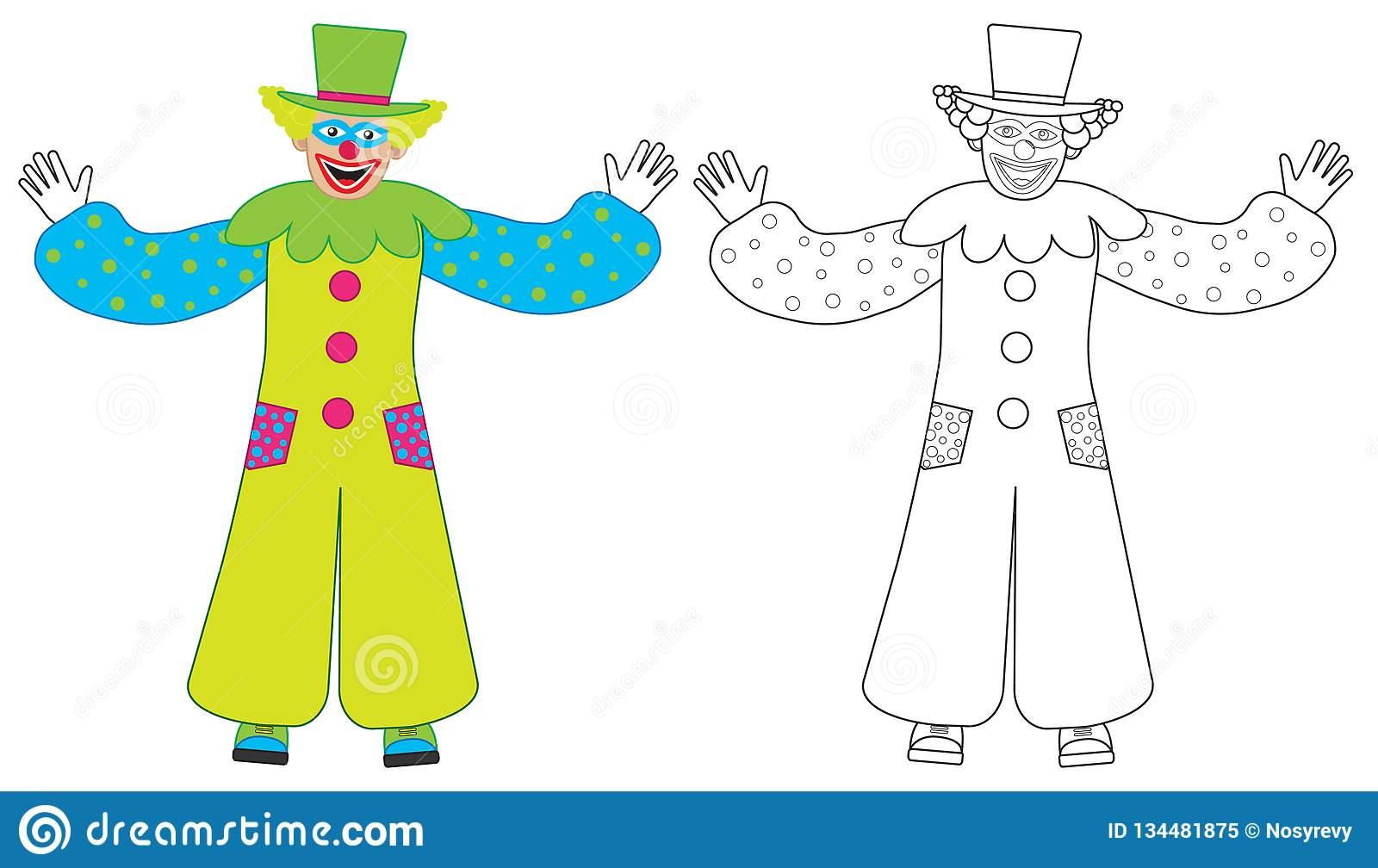 Accueils De Clown, Coloré Gais Et Livre De Coloriage tout Coloriage Tete De Clown