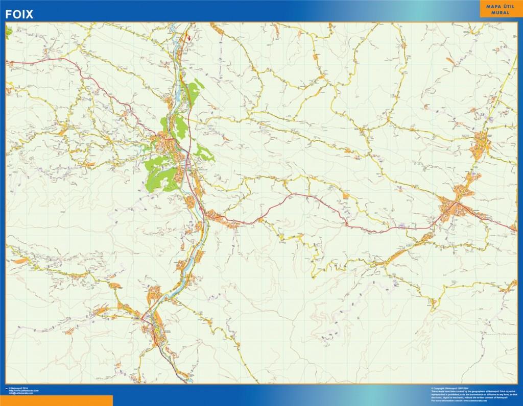 Achat Carte Foix | | Cartesmurales.fr avec Acheter Carte De France