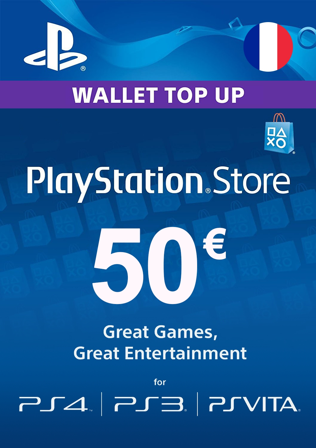 Acheter Carte Playstation Network 50€ (France) Playstation pour Acheter Carte De France