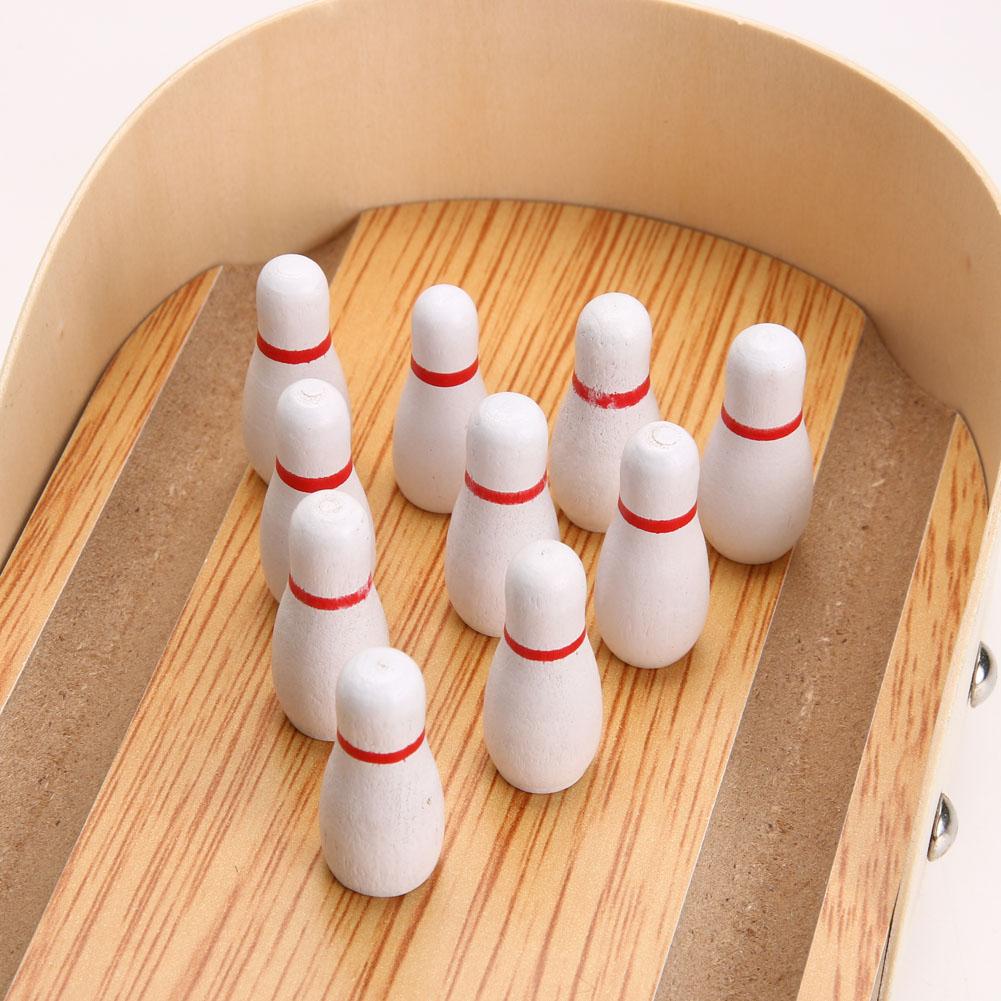 Acheter En Bois Mini Bureau Bowling Jeu Jouet Set Enfants Enfants Intérieur  Fun Bowling Jouet Développement Parent Enfant Interact Jouet K5Bo De dedans Bowling Pour Enfant