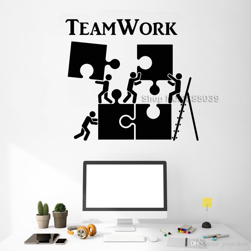 Acheter Vinyle Decal Sticker Teamwork Motivation Décor Pour Employé De  Bureau Puzzle Stickers Muraux Moderne Intérieur Art Décoration Murale  Chaude De intérieur Puzzle En Ligne Facile