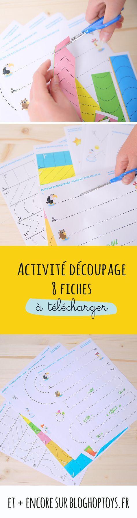 Activité Découpage : 8 Fiches À Télécharger | Découpage pour Activité Ludique Maternelle