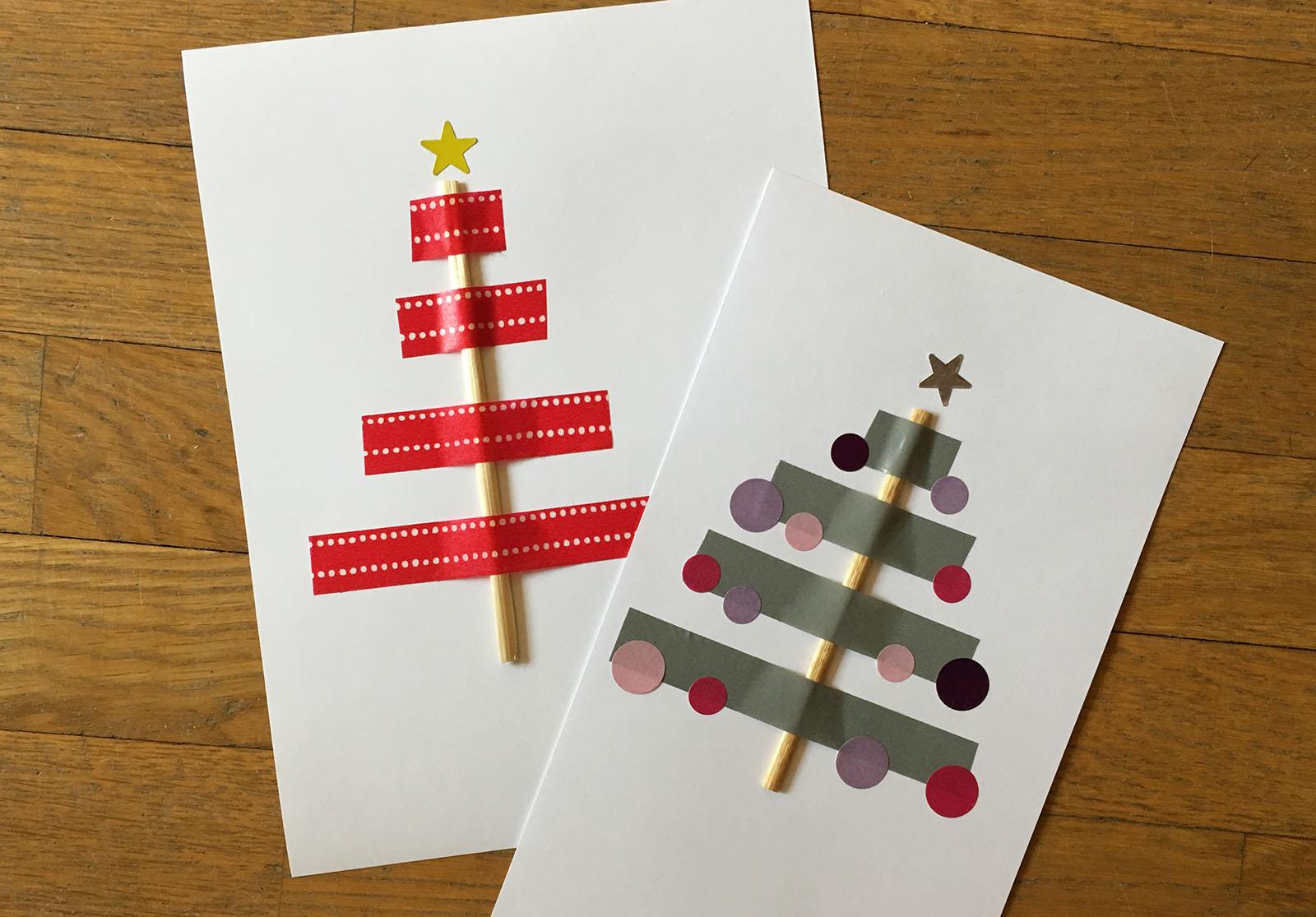 Activité Manuelle : La Carte Sapin De Noël - Family Sphere tout Activités Manuelles 3 Ans Pour Noel