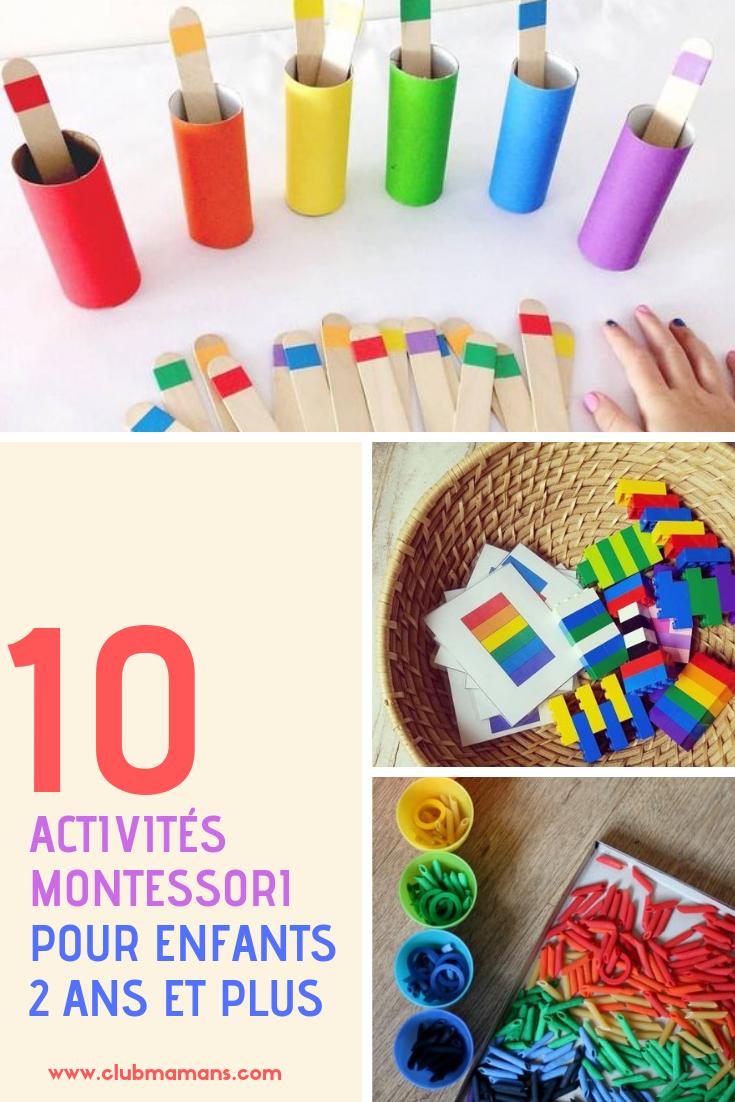 Activités Montessori 2 Ans : 10 Idées Faciles ! ⋆ Club Mamans concernant Activités Manuelles Enfant 3 Ans
