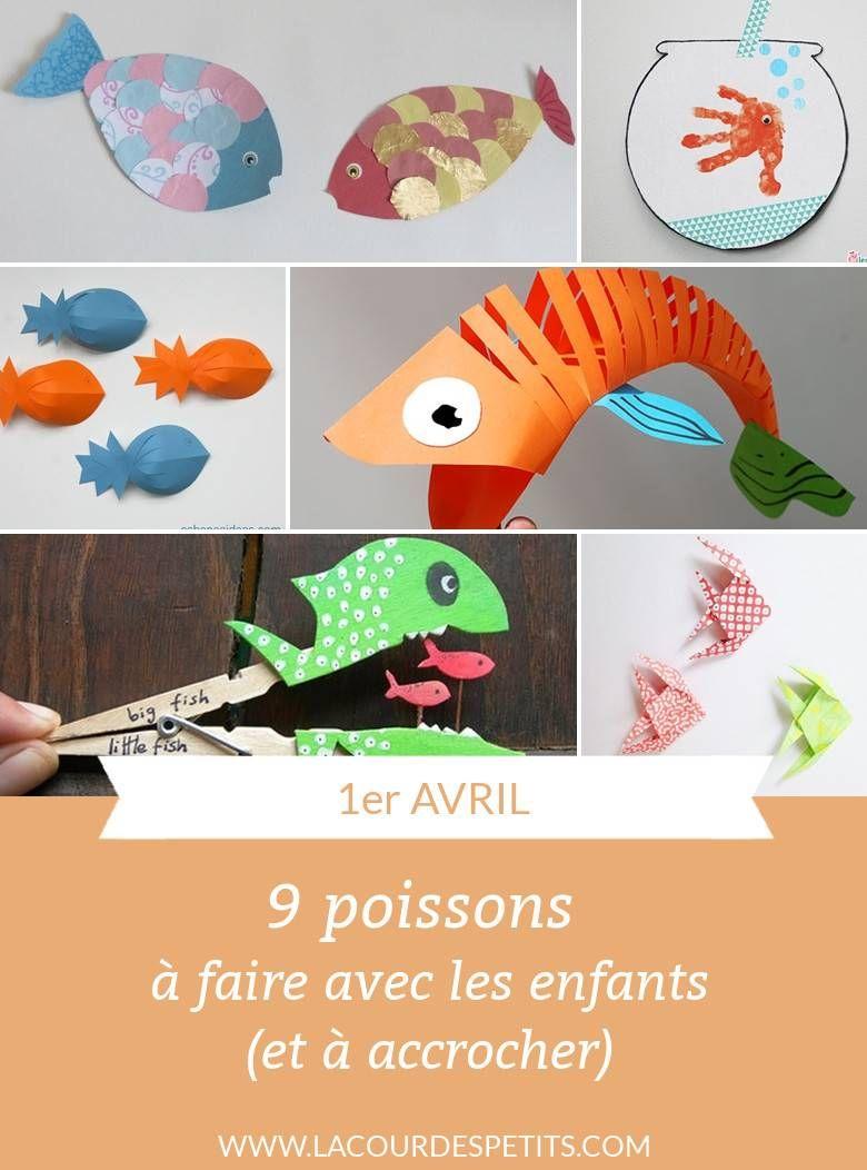 Activités Poisson D'avril : 9 Idées De Poissons À Fabriquer tout Activité Simple A Faire