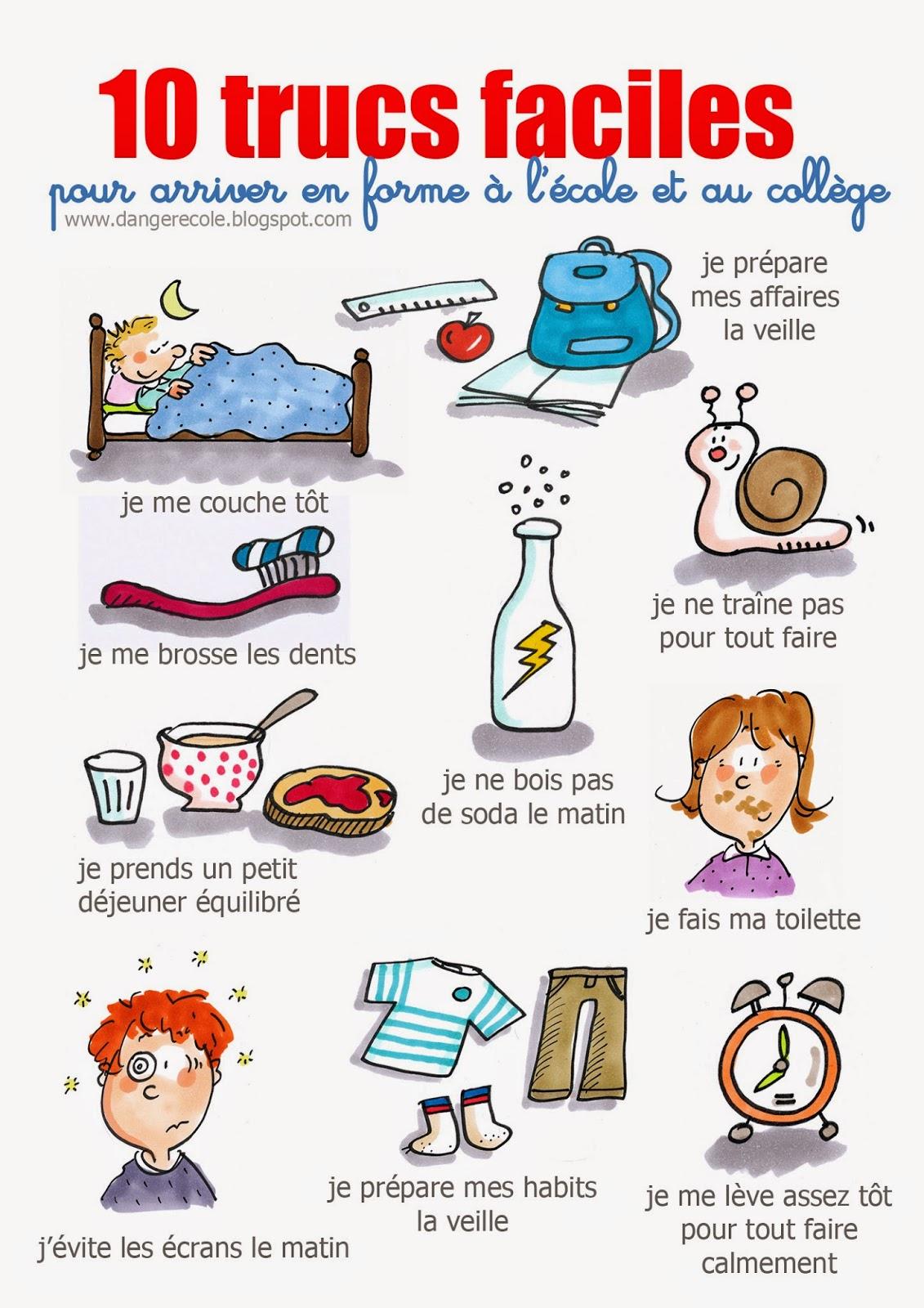 Activités Quotidiennes - Emploi Du Temps - Cours Et concernant Exercice Francais Facile