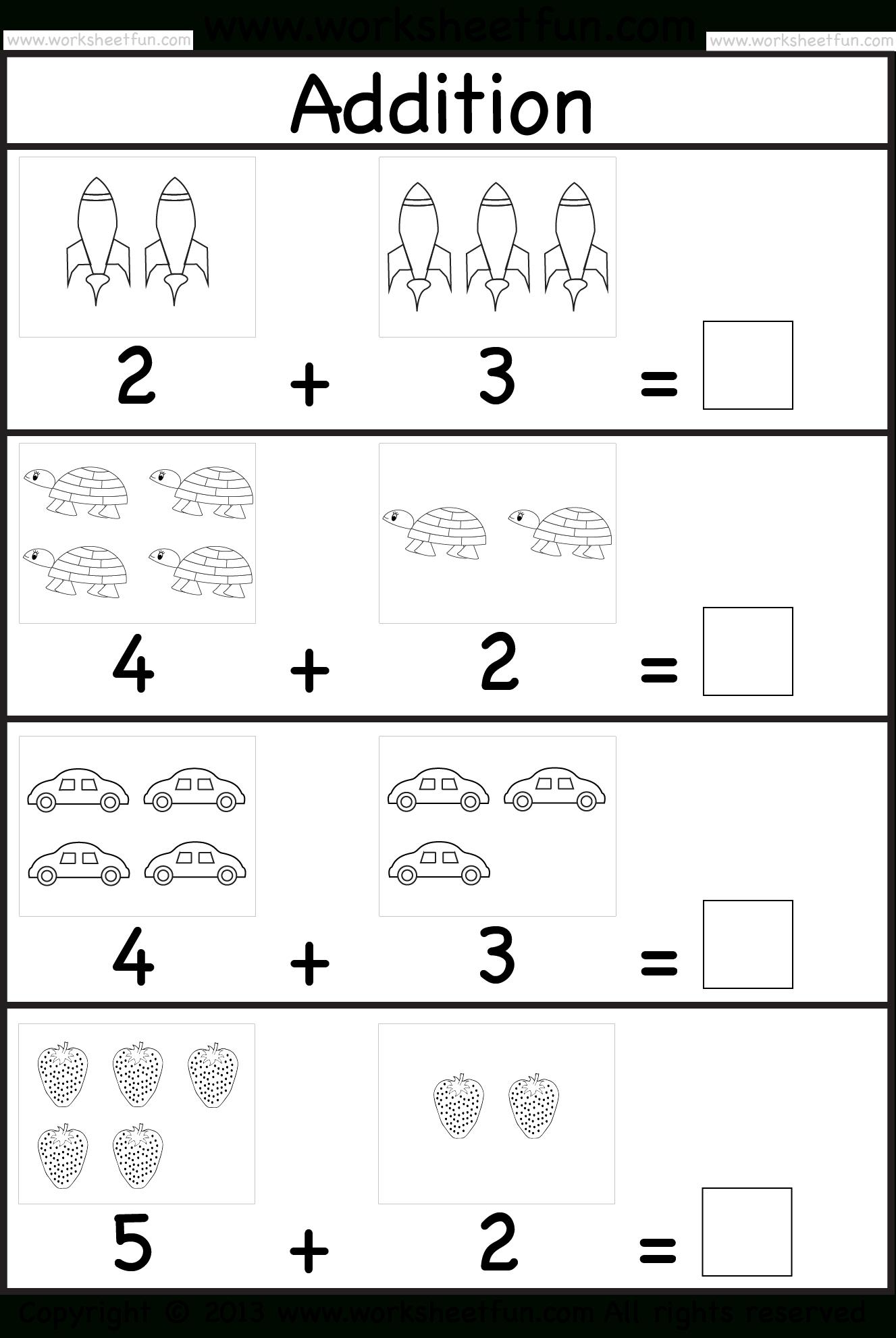 Addition Worksheet | Feuilles De Calcul De La Maternelle à Addition Maternelle
