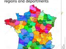Administrative Map Of France Stock Vector - Illustration Of tout Map De France Regions
