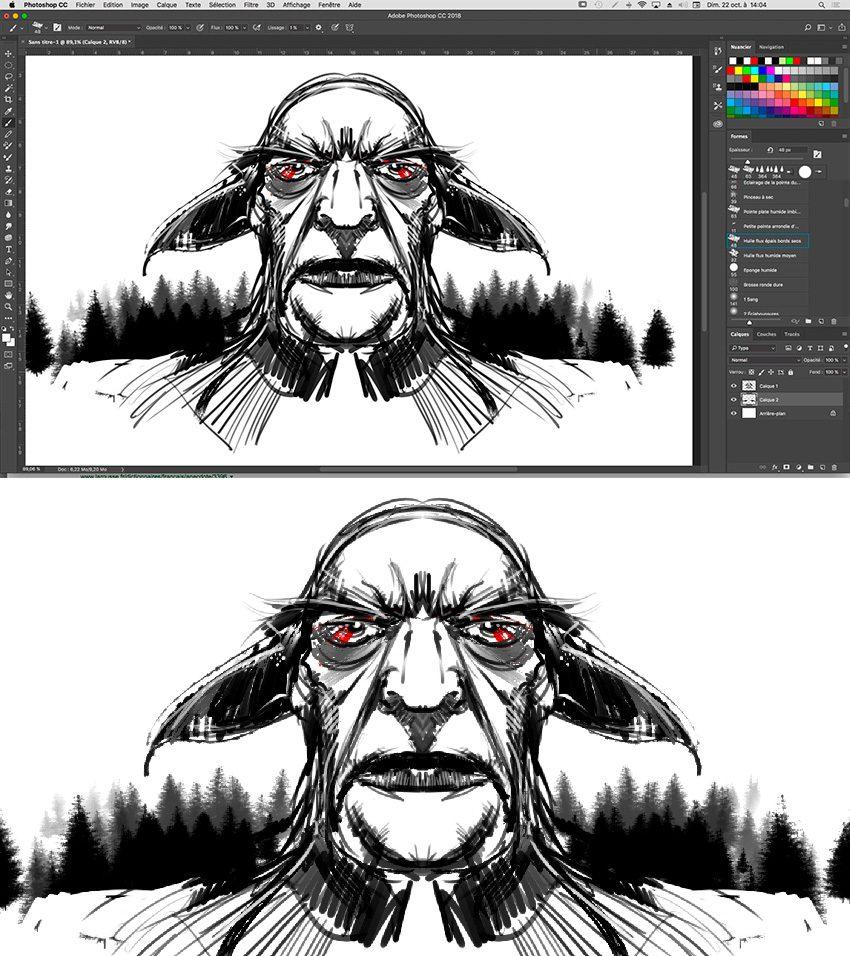 Adobe Photoshop Cc 2018 : La Symétrie - Wacometmapomme encequiconcerne Symétrie En Ligne