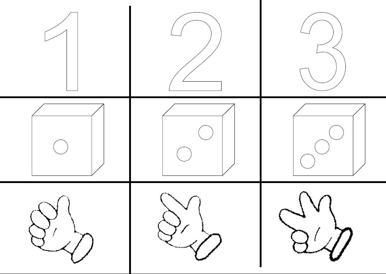 Affichages Nombres Maternelle - Le Tableau Blanc à Formes À Découper Maternelle