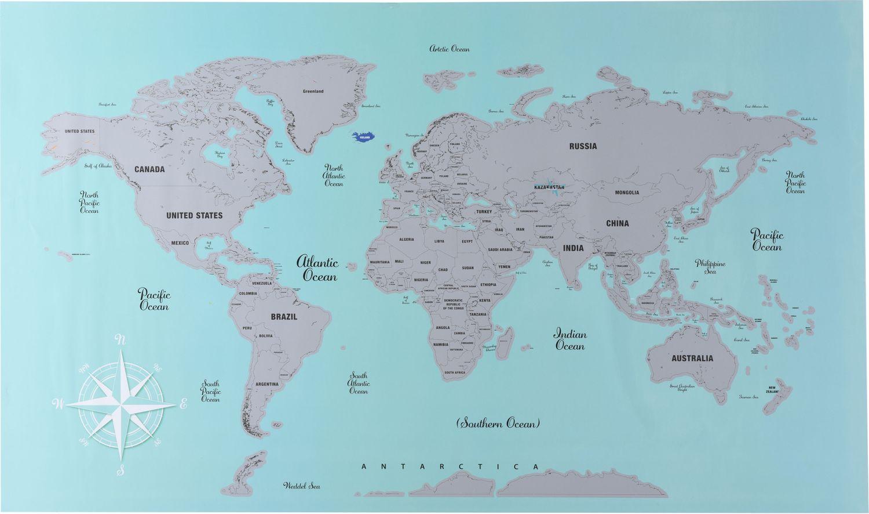 Affiche À Gratter Sur La Carte Du Monde destiné Carte Du Monde En Ligne