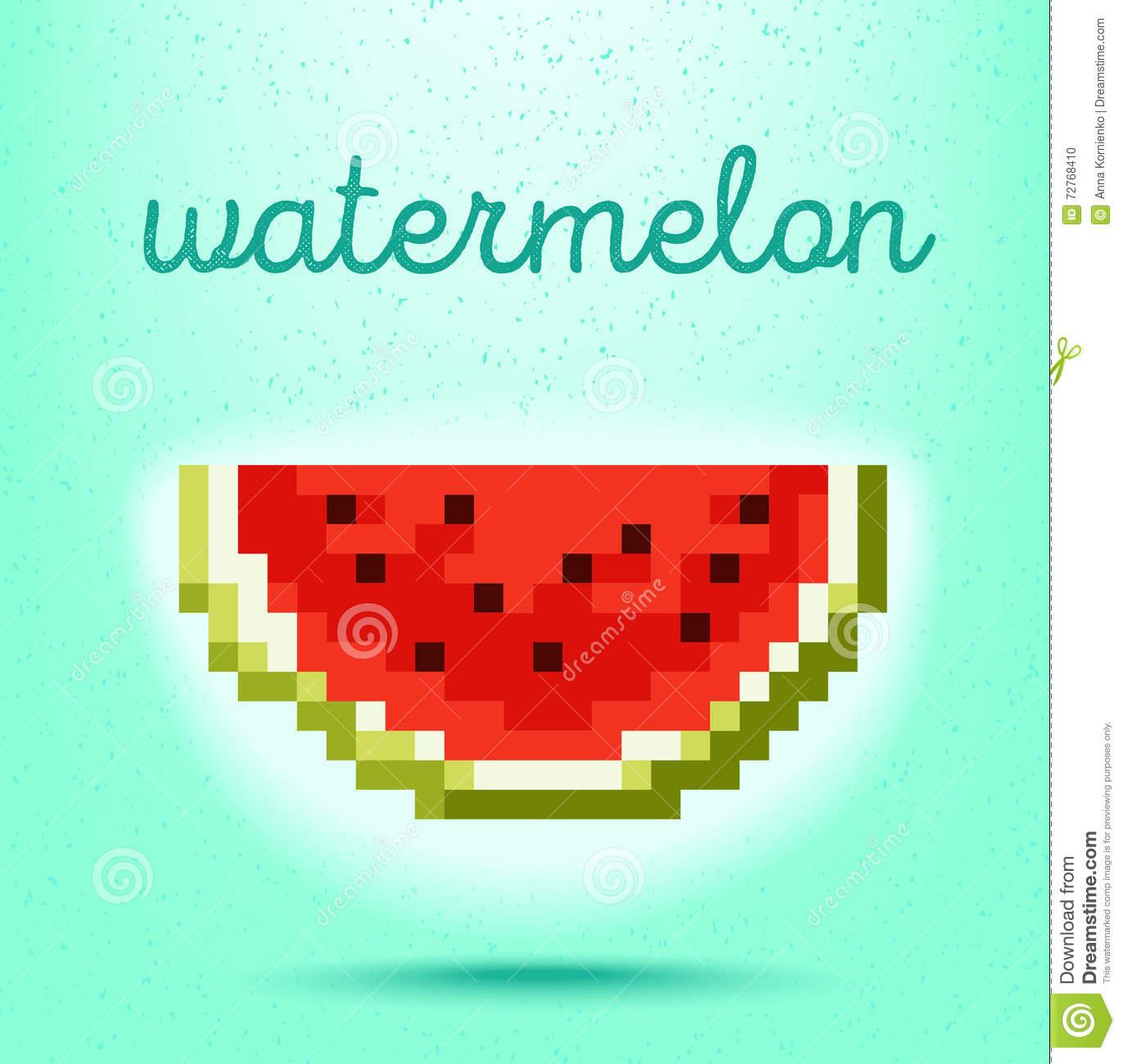Affiche De Style De Pixel-Art Avec Le Fruit De Fraise Sur Le serapportantà Pixel Art Fraise