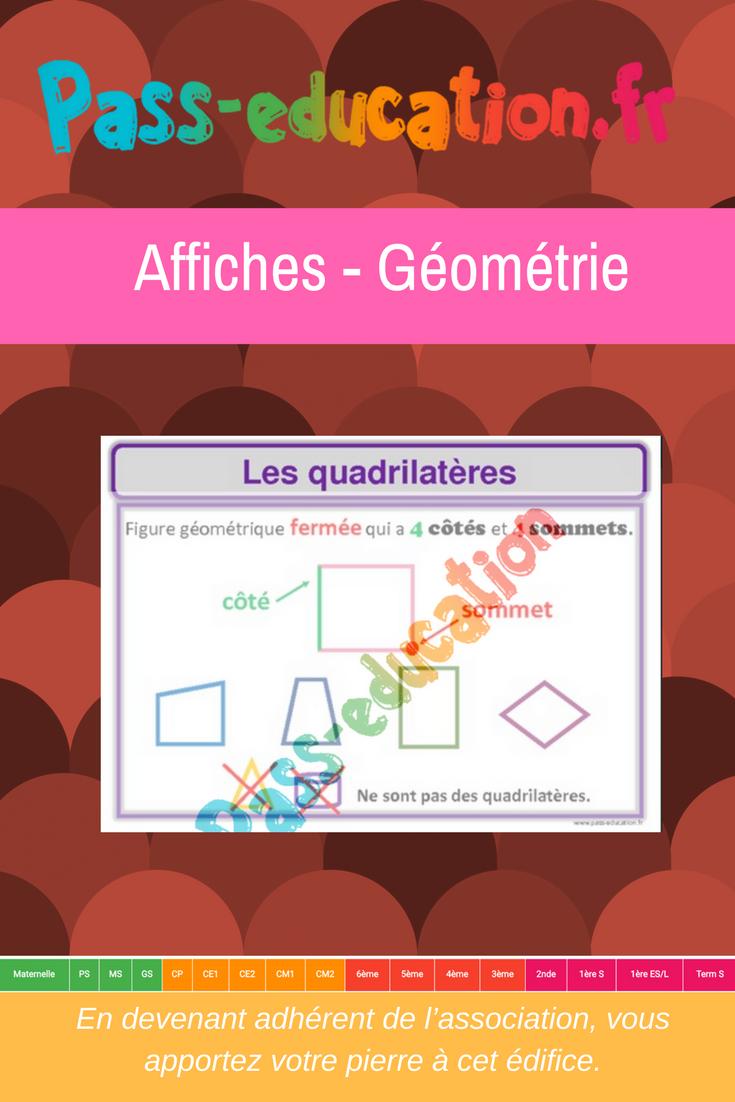 Affiches - Géométrie - Cycle 2 Et 3 | Ce2 Cm1, Géométrie Ce1 destiné Symétrie Ce1 Ce2