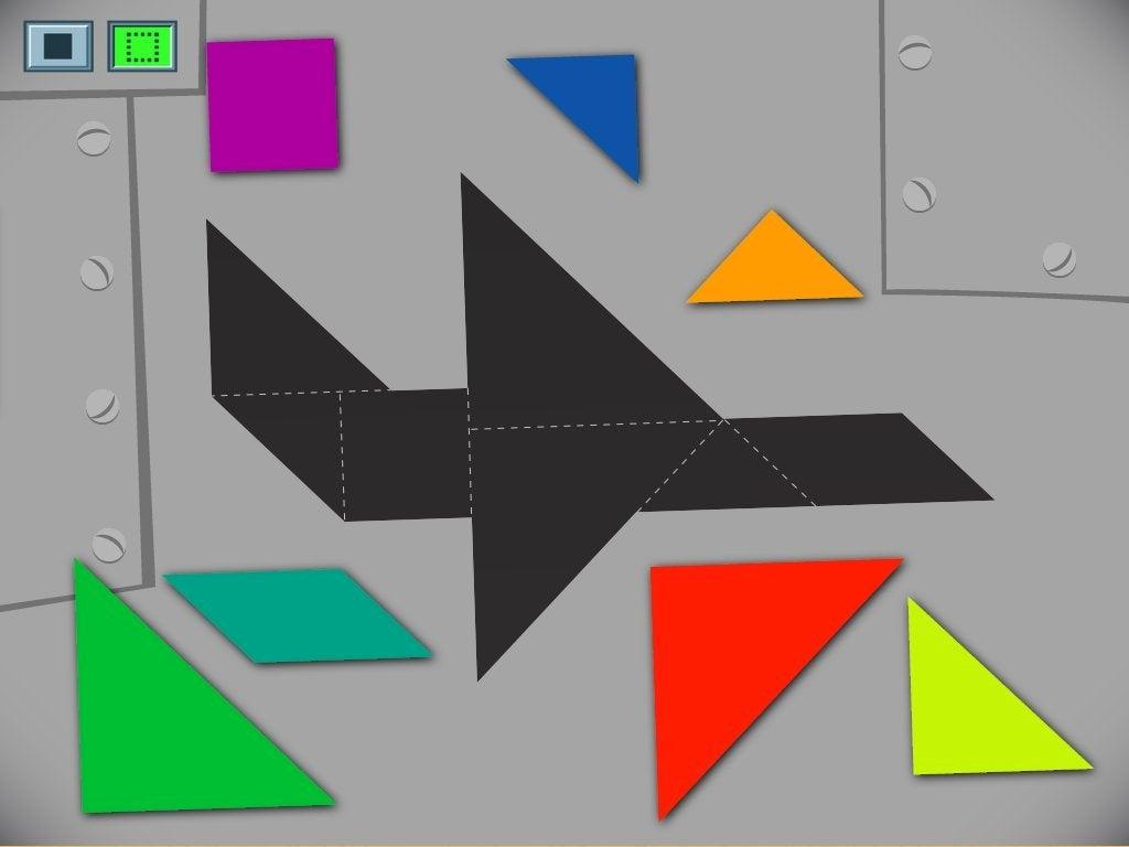 Airplane Tangram Game | Game | Education encequiconcerne Progression Tangram