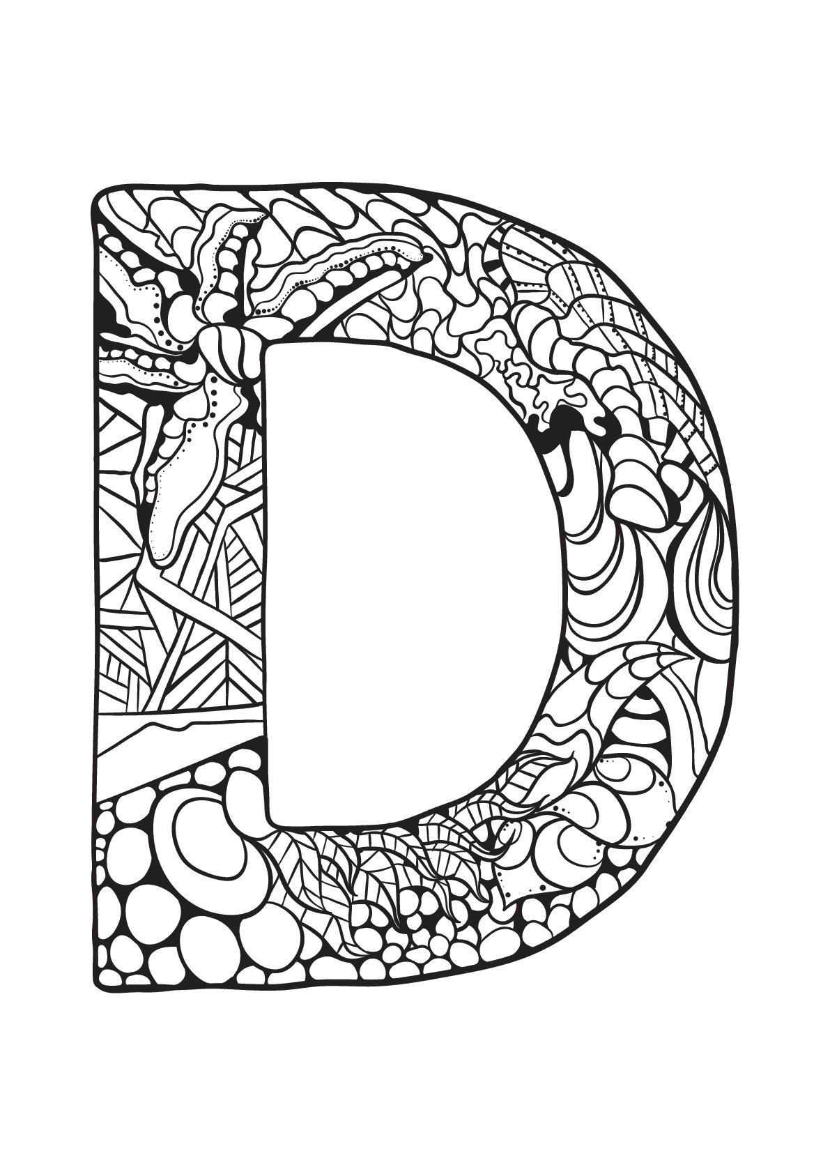 Alphabet Lettre D - Coloriages Alphabet Et Lettres concernant Coloriage D Alphabet