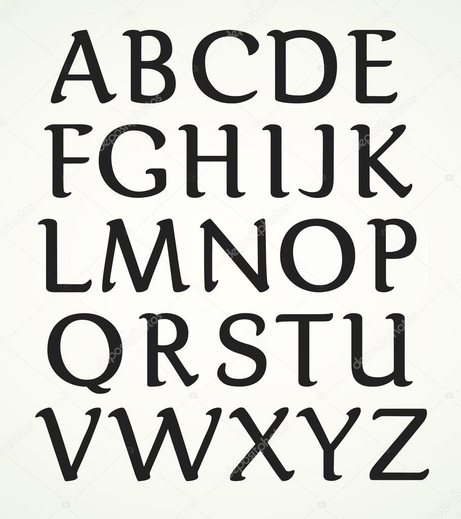 Alphabet Majuscule | Majuscule Alphabet — Stock Vector tout Majuscule Script
