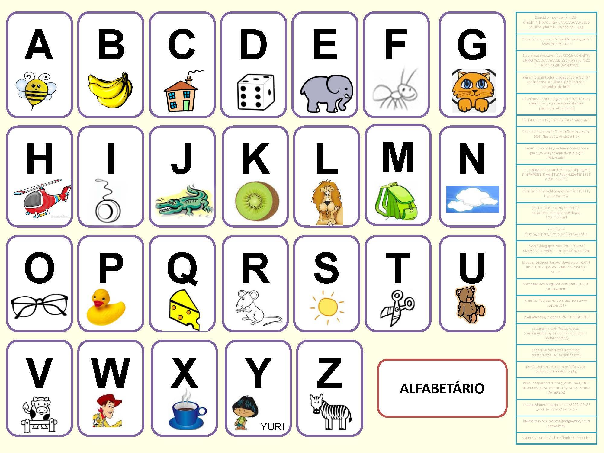 Alphabet Portugais En Images À Imprimer - Tests & Jeux pour Alphabet À Colorier Maternelle