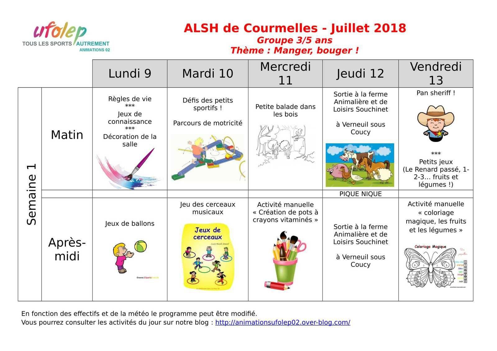 Alsh Courmelles - Les Activités - Animations Ufolep 02, Le Blog à Petit Jeux 3 5 Ans