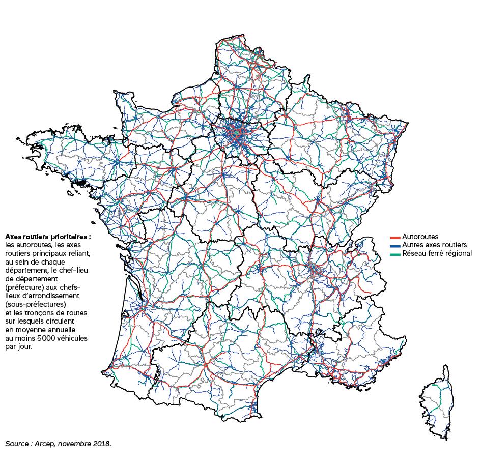 Améliorer La Couverture Des Axes De Transport | Agence Du concernant Departement Et Chef Lieu