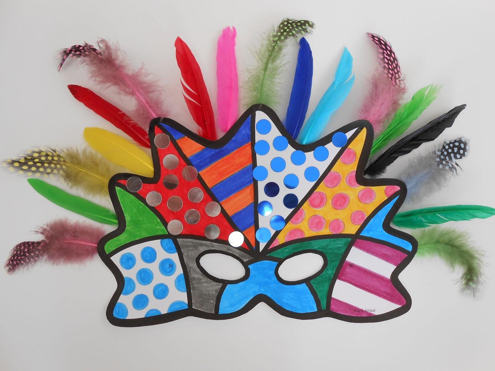 Amiscol: Masque De Carnaval Comme Romero Britto pour Masque Maternelle