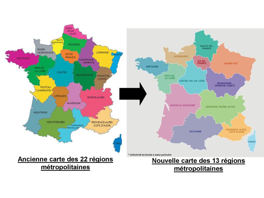 Ancienne Carte Des 22 Régions Métropolitaines - Ppt Télécharger dedans Les 22 Régions De France Métropolitaine