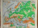 Ancienne Carte Scolaire Vidal-Lablache N°12 Et 12Bis encequiconcerne Carte De L Europe En Relief