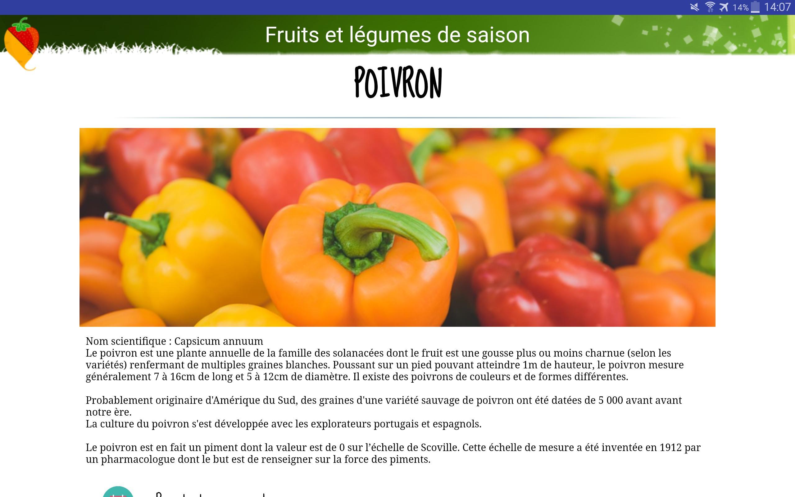 Android Için Fruits Et Légumes De Saison - Apk'yı İndir pour Nom Legume