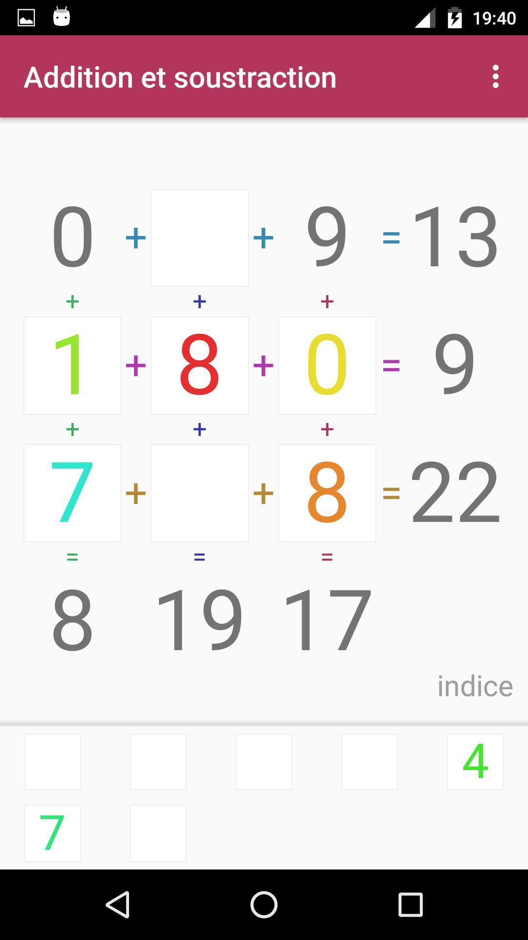 Android Için Jeu D'addition Et Soustraction - Apk'yı İndir intérieur Comment Jouer Sudoku