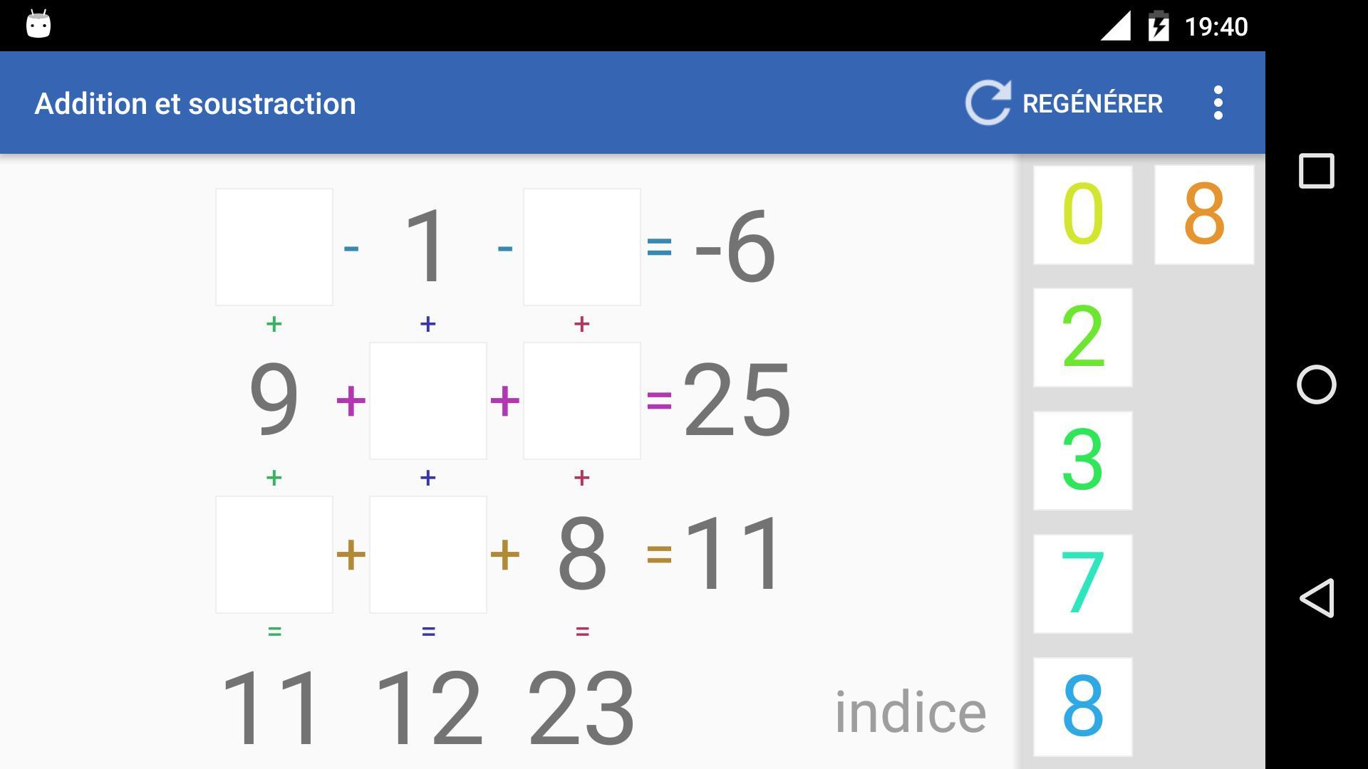 Android Için Jeu D'addition Et Soustraction - Apk'yı İndir tout Comment Jouer Sudoku