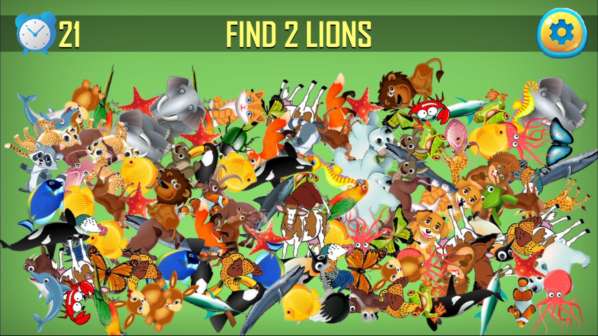 Animal Jeux D'objets Cachés - Chercher Et Trouver Pour avec Jeux Trouver Les Objets