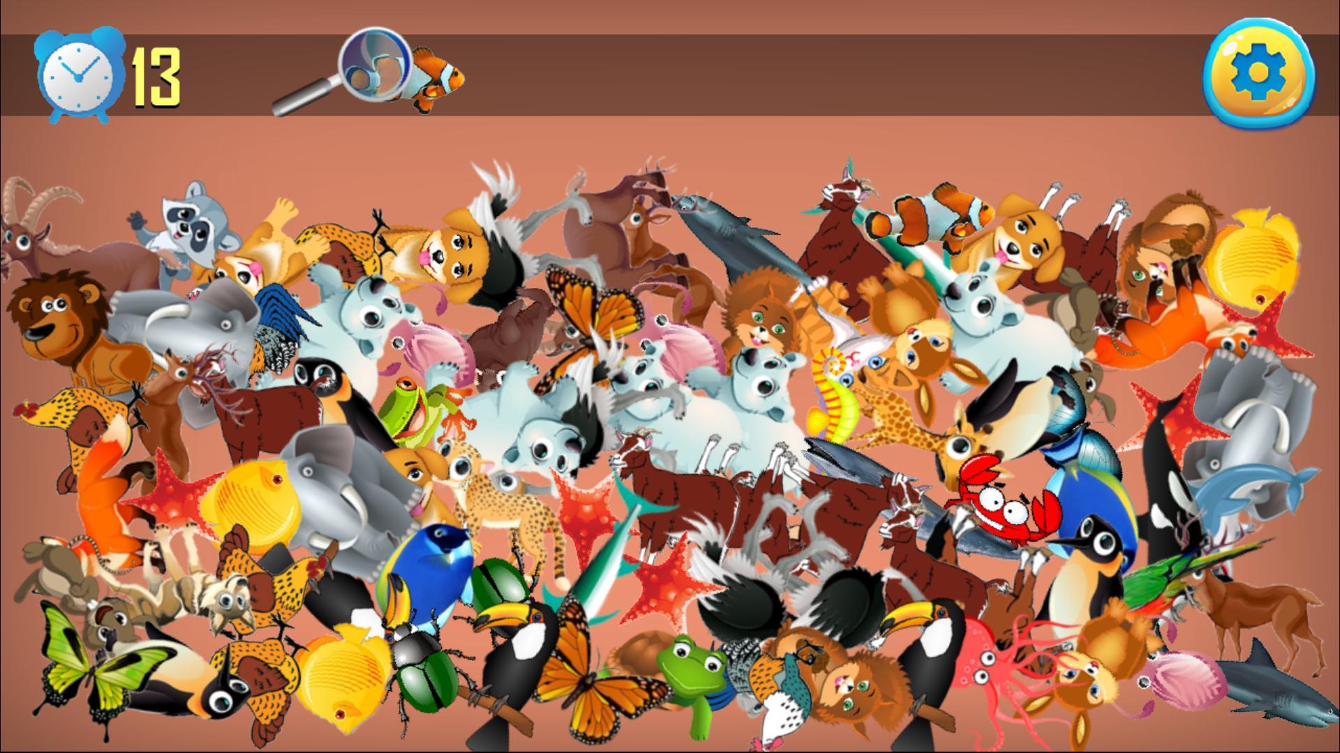 Animal Jeux D'objets Cachés - Chercher Et Trouver Pour concernant Jeux Trouver Les Objets