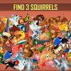Animal Jeux D'objets Cachés - Chercher Et Trouver Pour intérieur Jeux Trouver Les Objets