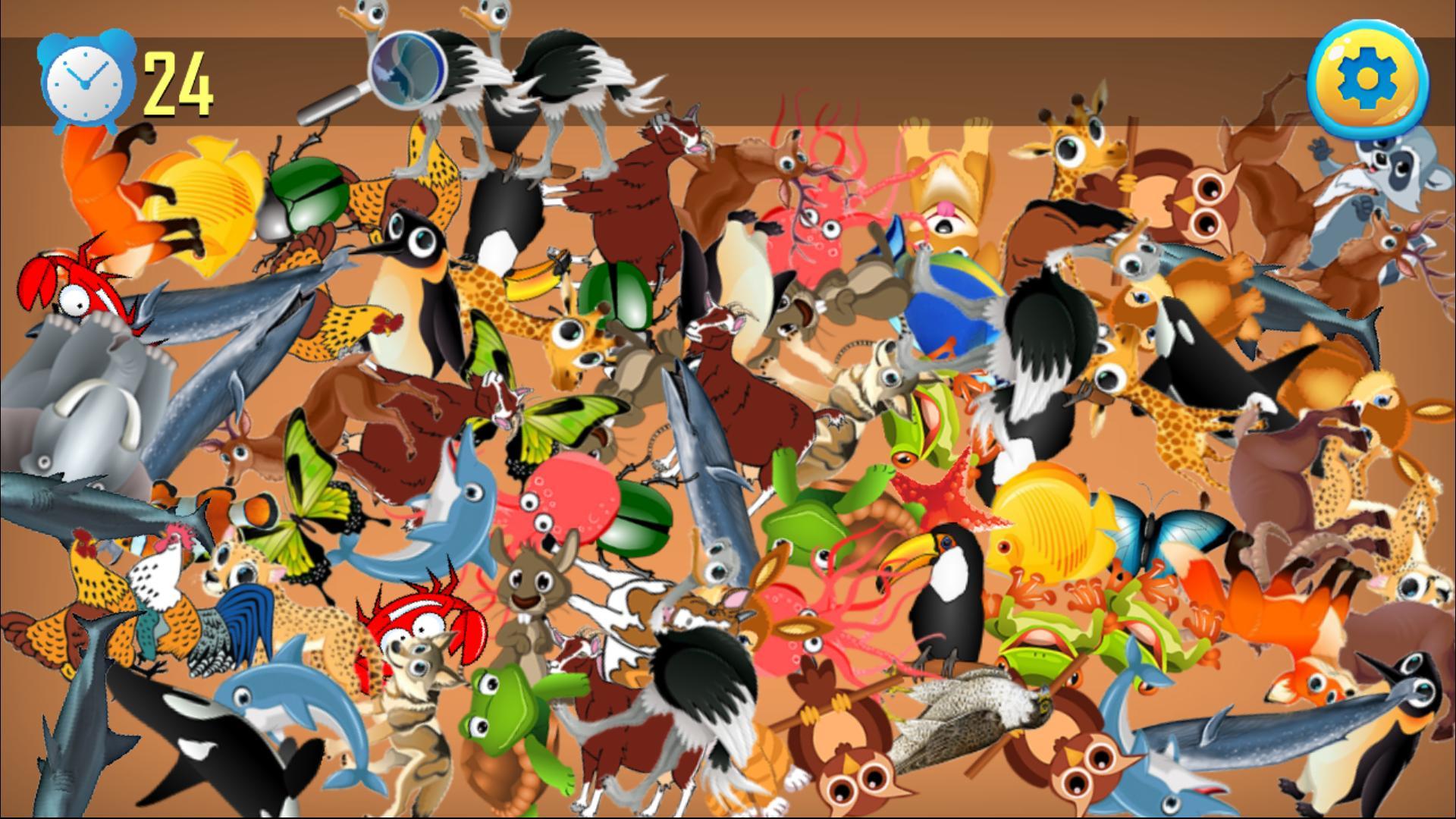Animal Jeux D'objets Cachés - Chercher Et Trouver Pour tout Jeux Trouver Les Objets