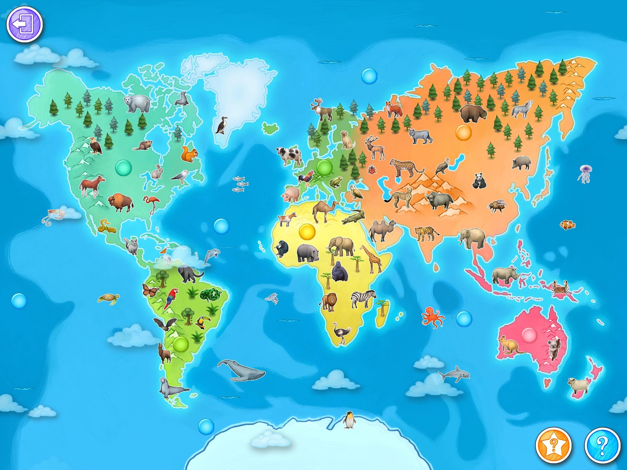 Animap - Petitsgeeks.fr avec Planisphère Enfant