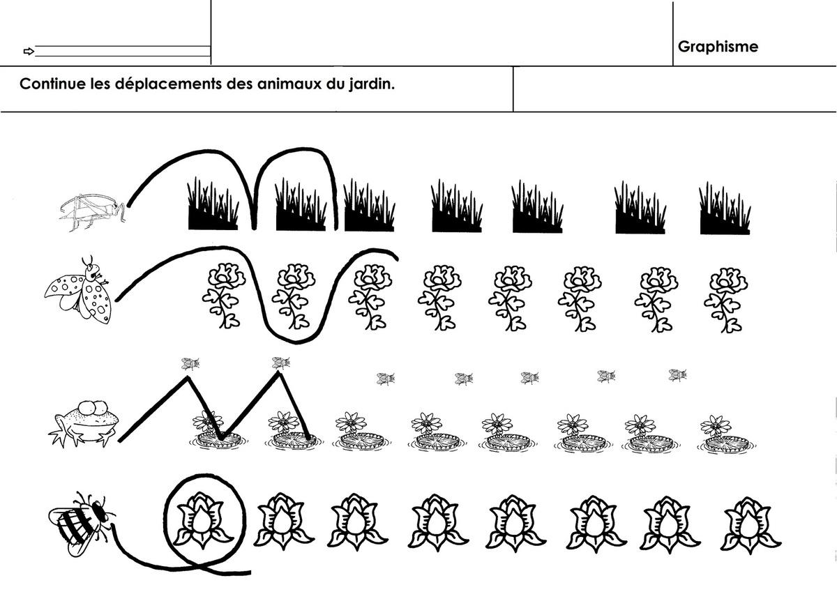 Animaux Du Jardin, Graphisme - École Maternelle Gellow avec Graphisme Les Vagues Moyenne Section