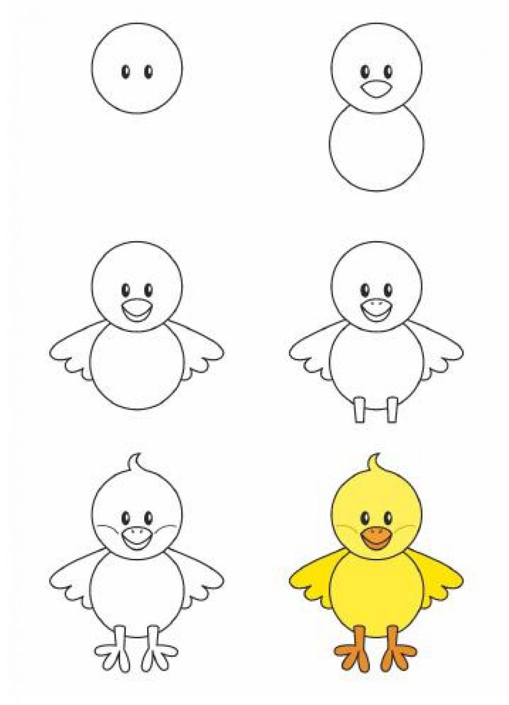 Apprendre À Dessiner Aux Enfants, Étape Par Étape! 17 pour Image Facile A Reproduire